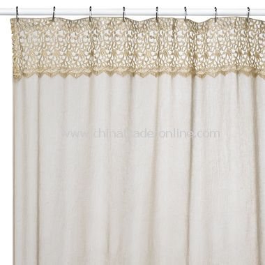 bali hai antique fabric shower stall curtain from china
