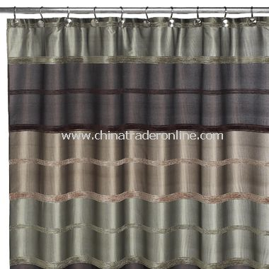 Bombay Sage Fabric Shower Curtain