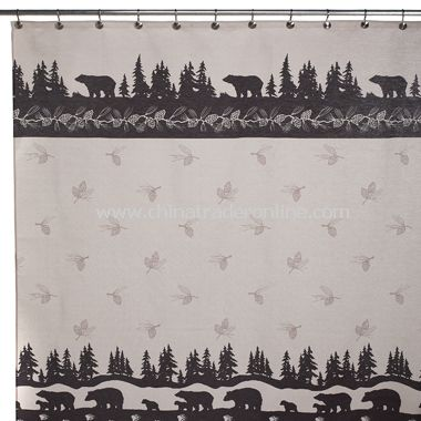 Brown Bears Fabric Shower Curtain