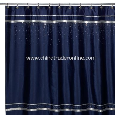 dark blue shower curtain. Croscill Glow Fabric Shower Curtain  Navy from China wholesale buy discount