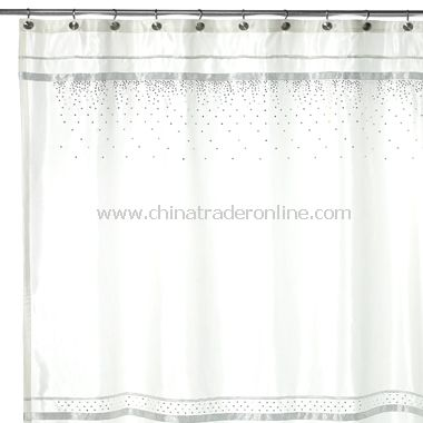 wholesale Croscill Glow Fabric Shower Curtain - White-buy discount ...