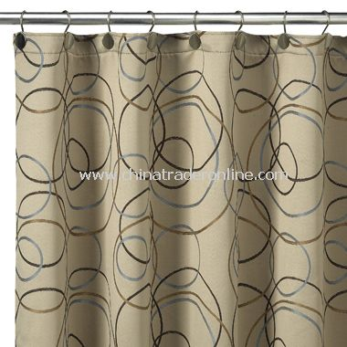 Curtains Ideas curtains eclipse : wholesale Eclipse Champagne Fabric Shower Curtain-buy discount ...
