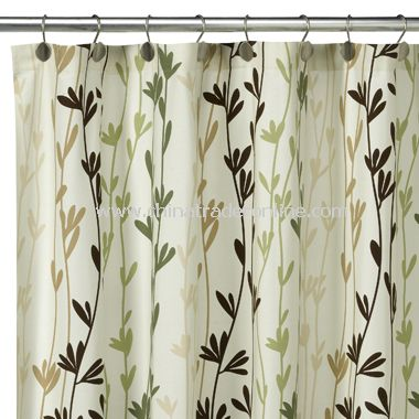 wholesale Eco Leaves Fabric Shower Curtain, 100% Cotton-buy ...