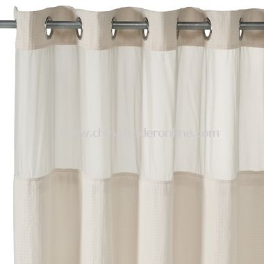Excelsior Fabric Shower Curtain By CroscillExtra Large Clear EVA