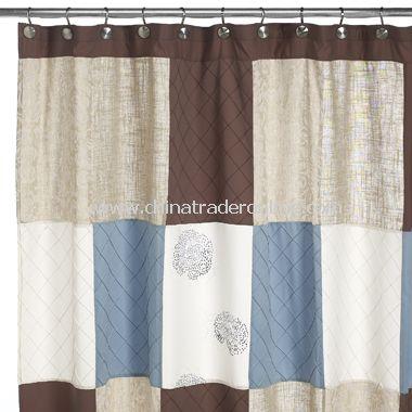 Fleur Chinon Fabric Shower Curtain
