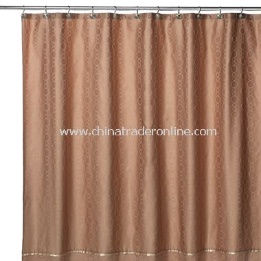 Gold Links Fabric Shower Curtain