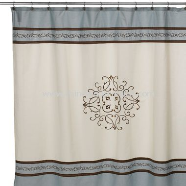 Hotel Collection Landon Fabric Shower Curtain