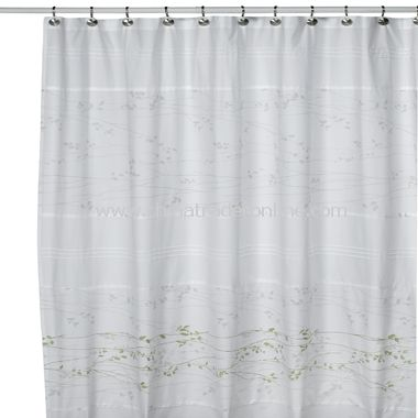 Lantana Fabric Shower Curtain by Kas