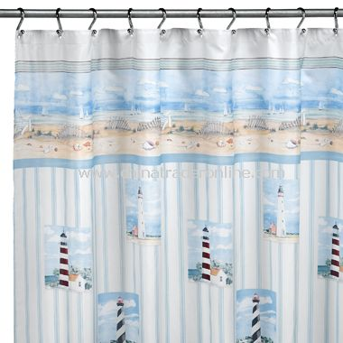 Lighthouse Shower Curtain by Saturday Knight Limited from China