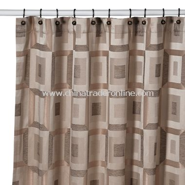 Metro Bronze Shower Curtain By Croscill From China