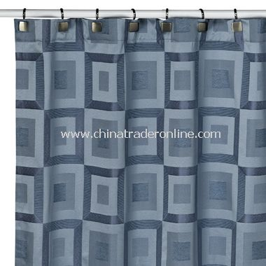 Metro Slate Blue Shower Curtain from China