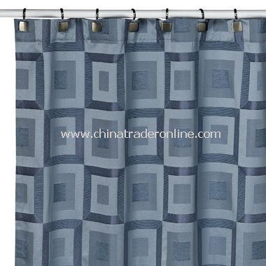 Metro Slate Blue Shower Curtain