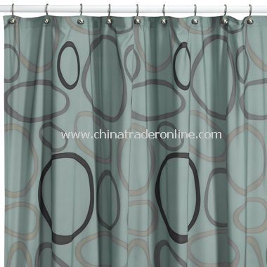 Modern Comfort by Angela Adams Lulu Dusk Fabric Shower Curtain