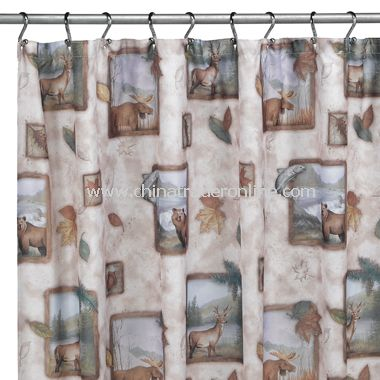 Northwoods Shower Curtain by Saturday Knight Limited from China