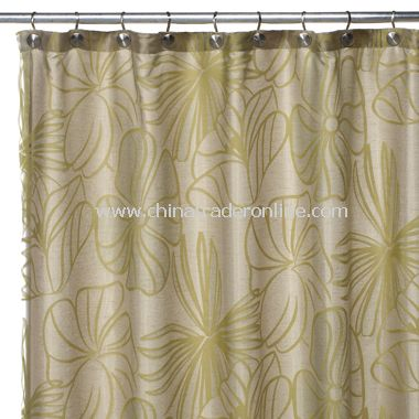 wholesale Palm Green Sheer Fabric Shower Curtain-buy discount Palm ...