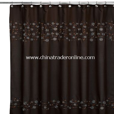 Pizzaz Fabric Shower Curtain By Croscill