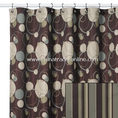Retro Remix Fabric Shower Curtain From China