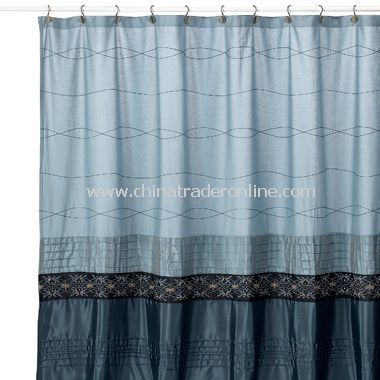 High Quality Romana Blue Fabric Shower Curtain From China