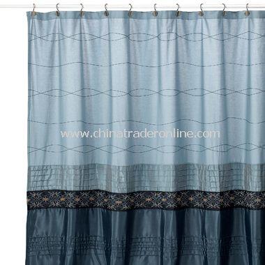 Wholesale Romana Blue Fabric Shower Curtain Buy Discount Romana Blue Fabric Shower Curtain Made