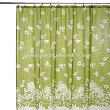 Tommy Bahama Paradise Isle Fabric Shower Curtain