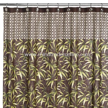 Tommy Bahama Tropical Fabric Shower Curtain