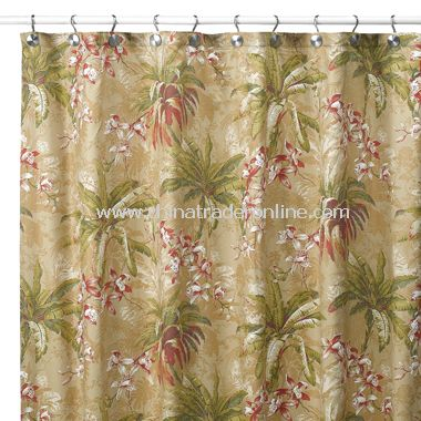 Viscaya Fabric Shower Curtain by Tommy Bahama, 100% Cotton, 230 Thread Count