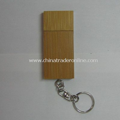128MB Bamboo Flash Drive w/Keychain