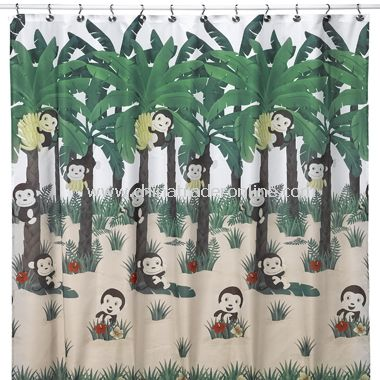 Allure Home Collection Motion Monkey Shower Curtain