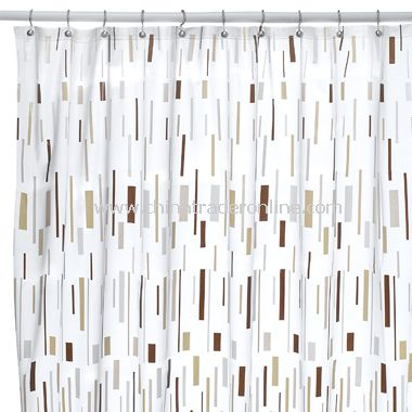 Bars Beige Shower Curtain