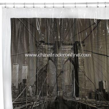 Brooklyn Bridge, New York City Vinyl Shower Curtain
