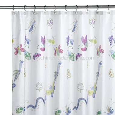 Bugs & Leaves Shower Curtain