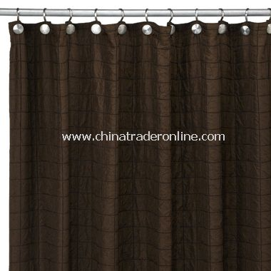 Chocolate Parachute Fabric Shower Curtain From China