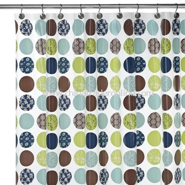 Dot Vinyl Shower Curtain