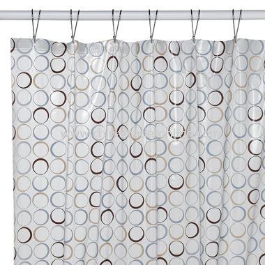 Eclipse Vinyl Shower Curtain
