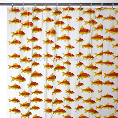 Goldfish EVA Shower Curtain from China