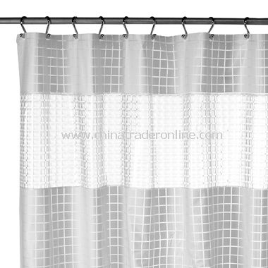 H2O White EVA Vinyl Shower Curtain