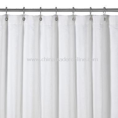 Hotel Reversible Terry White Shower Curtain