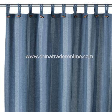 Houston Denim Recycled Fabric Shower Curtain