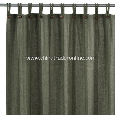 Houston Loden Recycled Fabric Shower Curtain