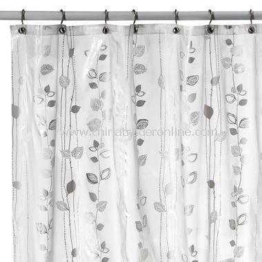 Metro Clear Vinyl Shower Curtain,Kauai EVA Vinyl Shower Curtain ...
