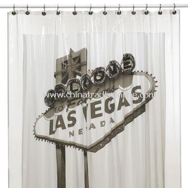 Las Vegas Vinyl Shower Curtain