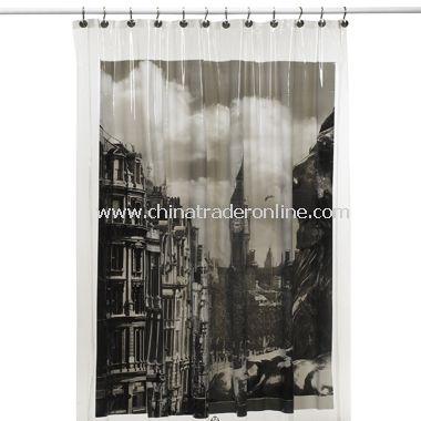 London Vinyl Shower Curtain