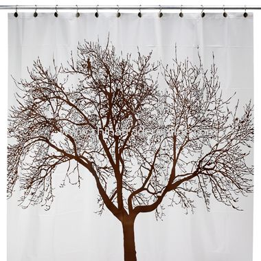 Mocha Tree Vinyl Shower Curtain