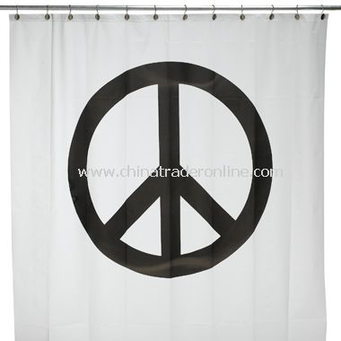 Peace Sign Vinyl Shower Curtain