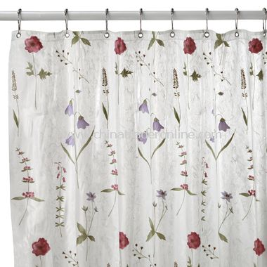 Poppies Vinyl Shower Curtain