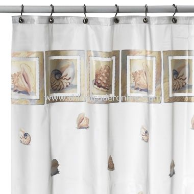 Shells Vinyl Shower Curtain