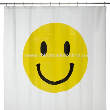Smiley Face Vinyl Shower Curtain