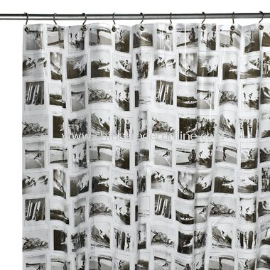 Surfer Vinyl Shower Curtain