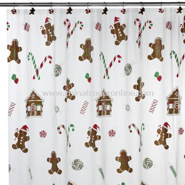 Sweet Treats Vinyl Shower Curtain and Hooks Set