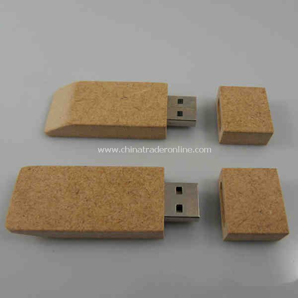 USB flash drive has recycled paper casing from China